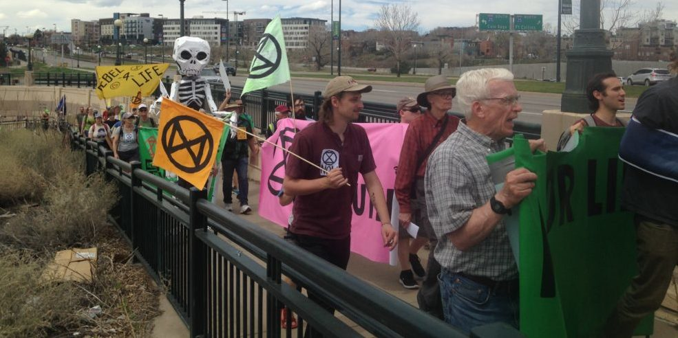 Extinction Rebellion Shutdown Denver Streets Calling for Action on Climate Chaos